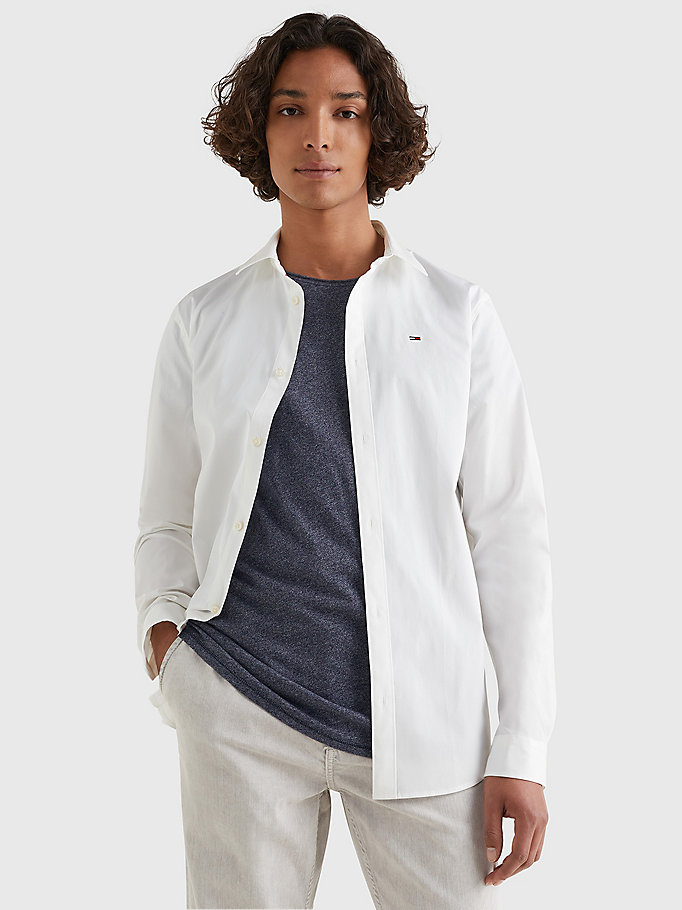 TOMMY JEANS Stretch Slim Fit Shirt - LAVENDER LUSTRE - TOMMY JEANS Men - main image