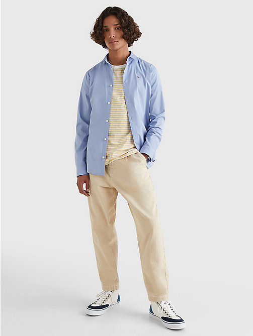 TOMMY JEANS Original Cotton Stretch Shirt - LAVENDER LUSTRE - TOMMY JEANS MEN - detail image 1