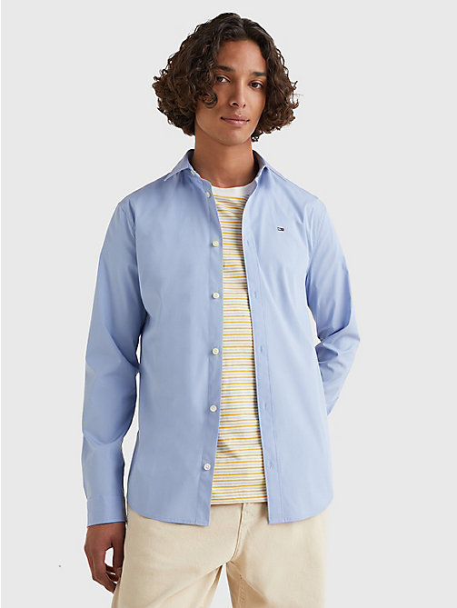 TOMMY JEANS Stretch Slim Fit Shirt - LAVENDER LUSTRE - TOMMY JEANS Shirts - main image