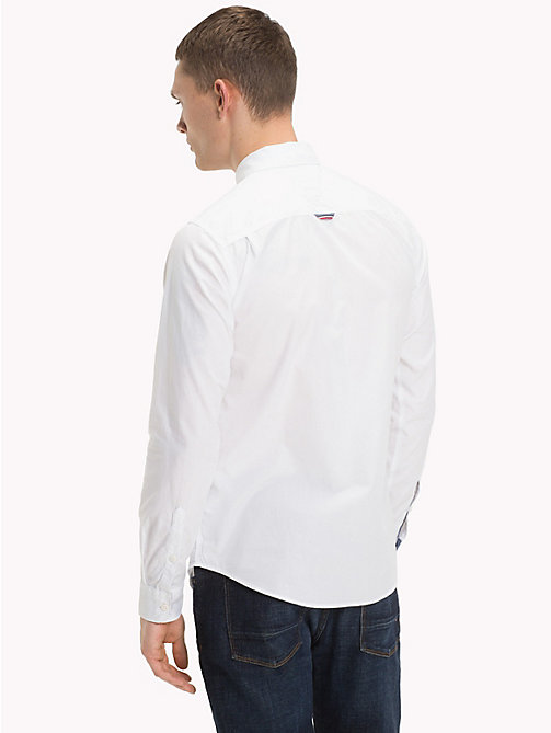 TOMMY JEANS Regular Fit Cotton Shirt - CLASSIC WHITE -  Shirts - detail image 1