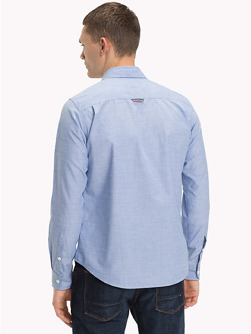 TOMMY JEANS Regular Fit Cotton Shirt - BRIGHT COBALT - TOMMY JEANS Shirts - detail image 1
