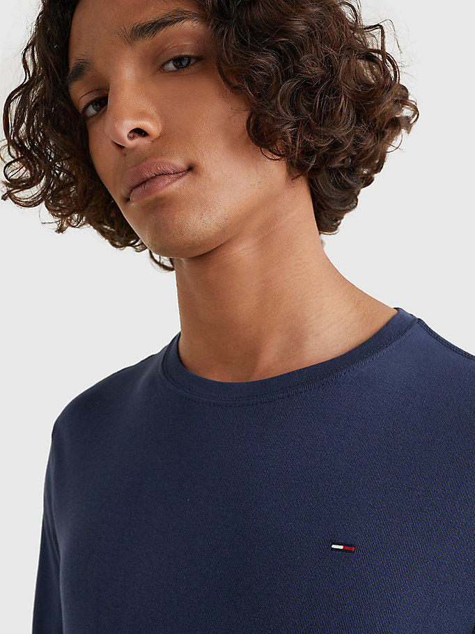 TOMMY JEANS Organic Cotton Long Sleeve T-Shirt - TOMMY BLACK - TOMMY JEANS Clothing - detail image 2
