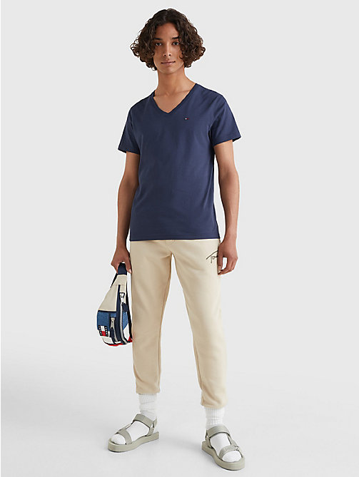 TOMMY JEANS V-Neck T-Shirt - BLACK IRIS - TOMMY JEANS T-Shirts & Polos - detail image 1