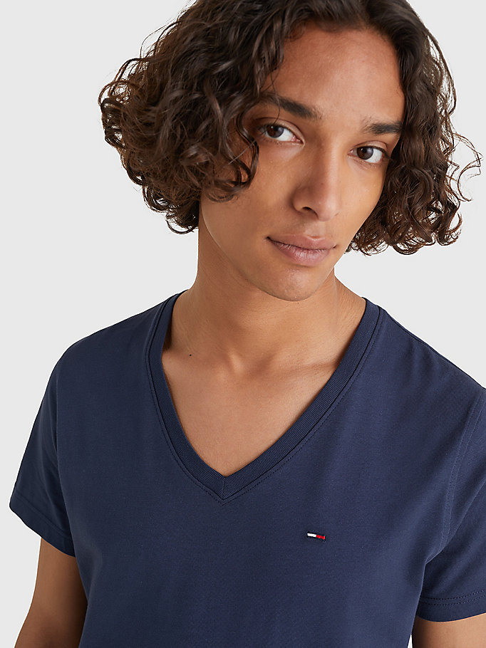 TOMMY JEANS V-Neck T-Shirt - TOMMY BLACK - TOMMY JEANS Men - detail image 2