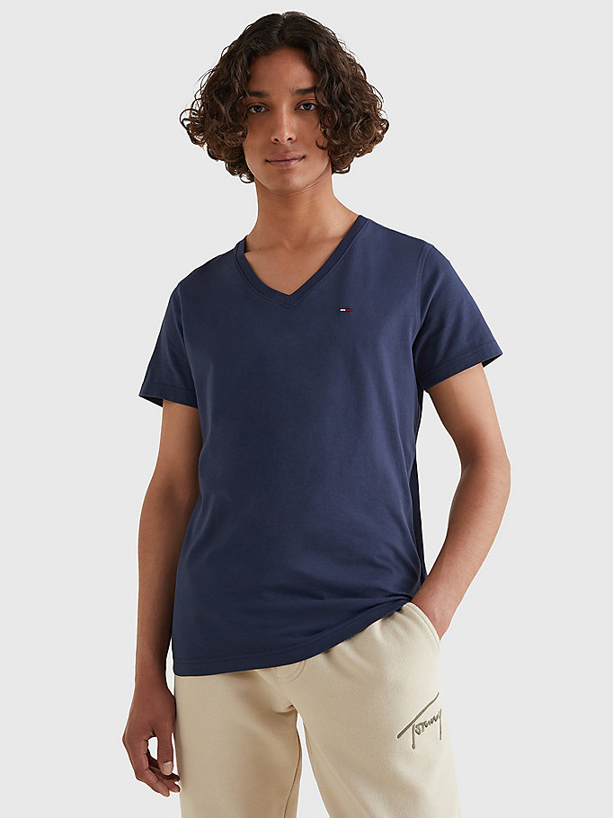 TOMMY JEANS V-Neck T-Shirt - TOMMY BLACK - TOMMY JEANS Men - main image