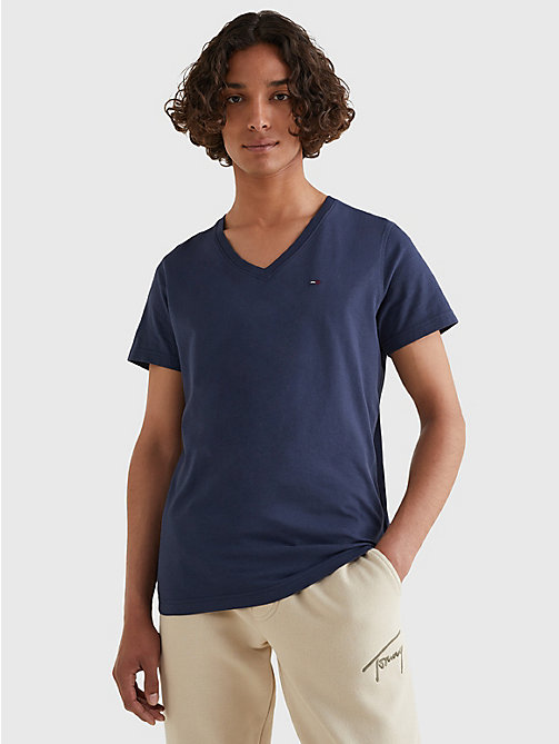 TOMMY JEANS V-Neck T-Shirt - BLACK IRIS - TOMMY JEANS T-Shirts & Polos - main image