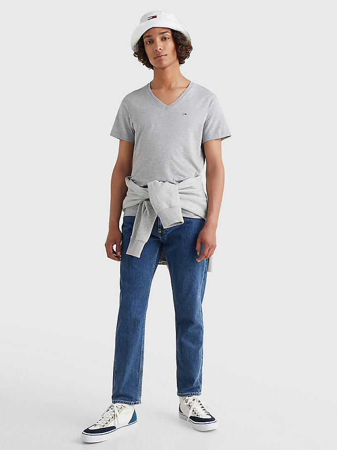 TOMMY JEANS V-Neck T-Shirt - CLASSIC WHITE - TOMMY JEANS Men - detail image 1
