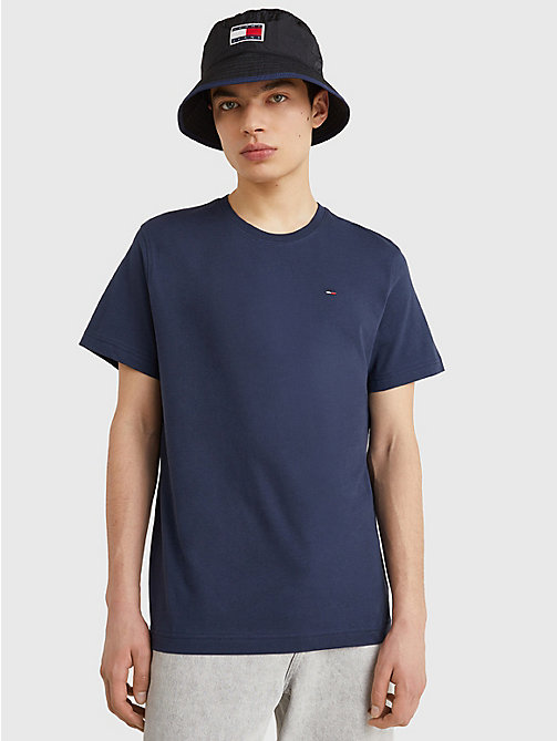 TOMMY JEANS Regular Fit T-Shirt mit Rundhalsausschnitt - BLACK IRIS - TOMMY JEANS T-Shirts & Poloshirts - main image
