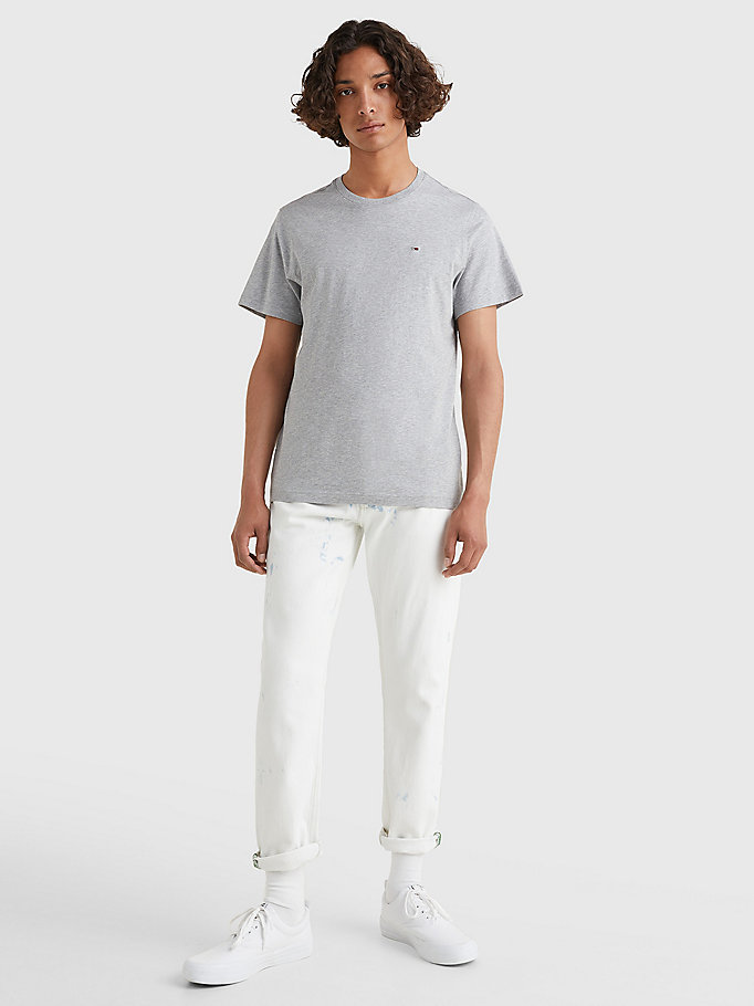 TOMMY JEANS Regular Fit Crew T-Shirt - CLASSIC WHITE - TOMMY JEANS Men - detail image 1