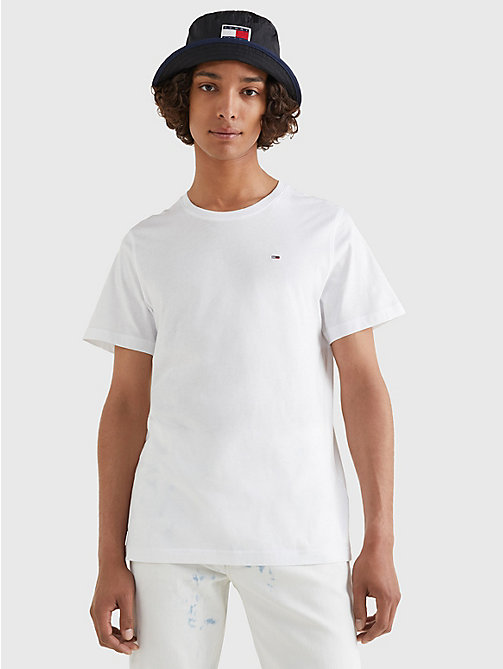 TOMMY JEANS Regular Fit T-Shirt mit Rundhalsausschnitt - CLASSIC WHITE - TOMMY JEANS T-Shirts & Poloshirts - main image