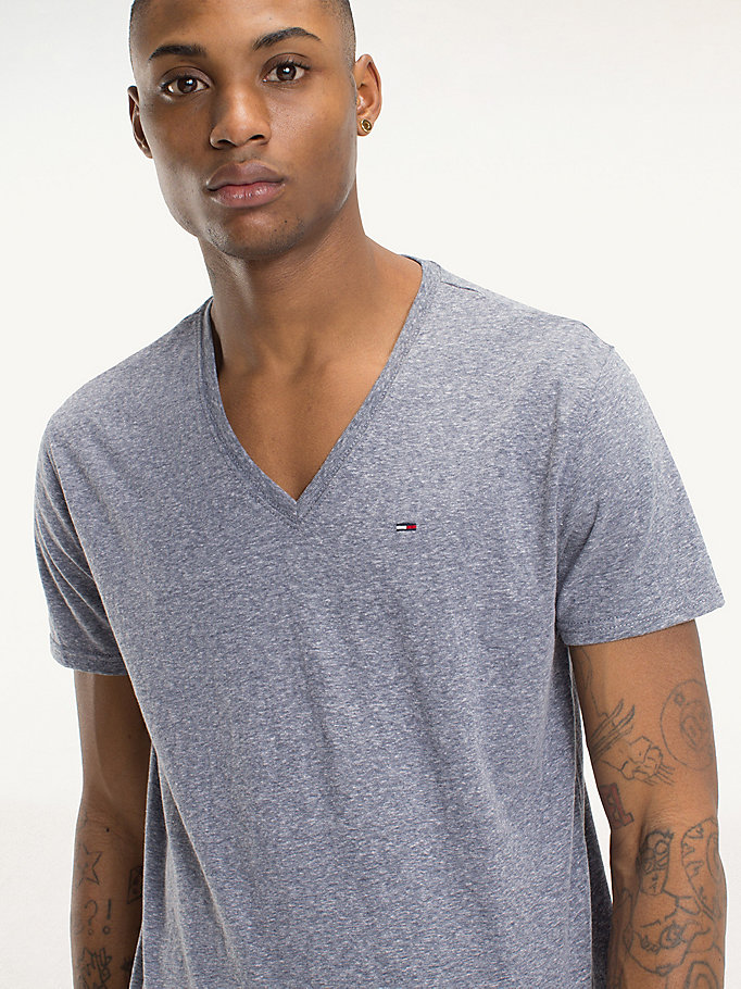 TOMMY JEANS Regular Fit Jersey T-Shirt - TOMMY BLACK - TOMMY JEANS Men - detail image 2