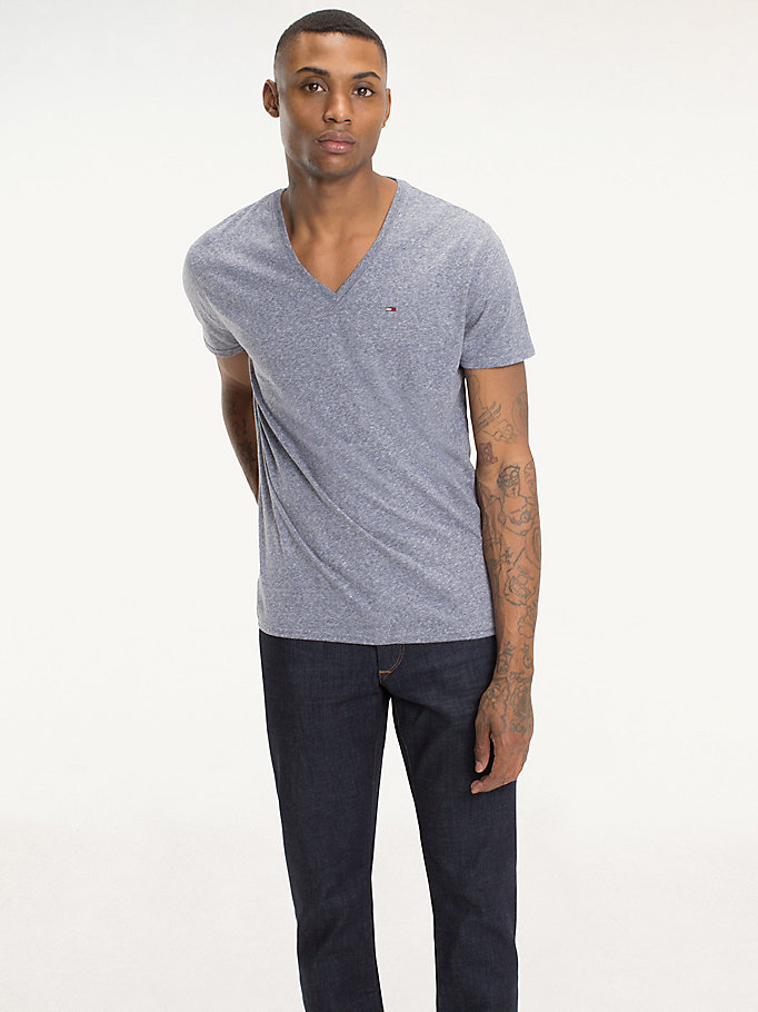 TOMMY JEANS Regular Fit Jersey T-Shirt - TOMMY BLACK - TOMMY JEANS Men - main image
