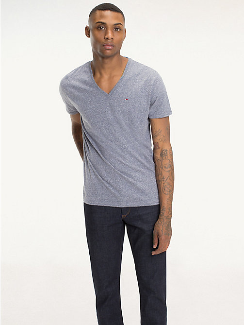 TOMMY JEANS Regular fit jersey T-shirt - BLACK IRIS - TOMMY JEANS T-Shirts &  Polo's - main image