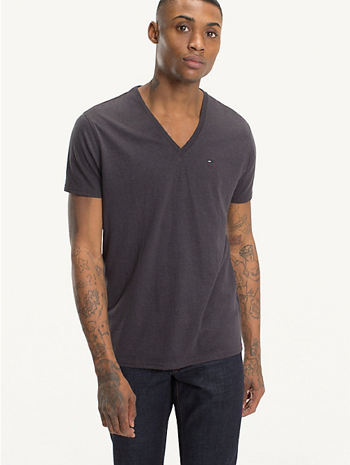 TOMMY JEANS Regular fit jersey T-shirt - TOMMY BLACK - TOMMY JEANS T-Shirts &  Polo's - main image