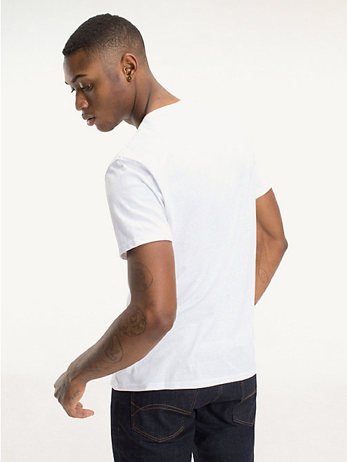 TOMMY JEANS Regular fit jersey T-shirt - CLASSIC WHITE - TOMMY JEANS T-Shirts &  Polo's - detail image 1