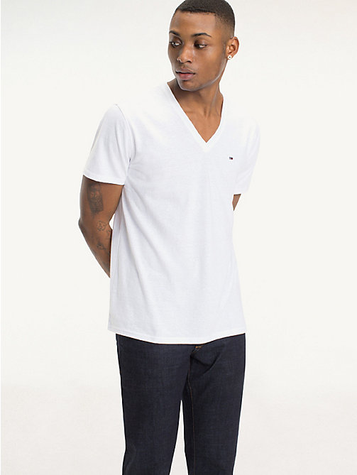 TOMMY JEANS Regular fit jersey T-shirt - CLASSIC WHITE - TOMMY JEANS T-Shirts &  Polo's - main image