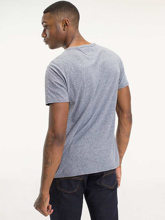 TOMMY JEANS Regular Fit Round Neck T-Shirt - TOMMY BLACK - TOMMY JEANS Men - detail image 1