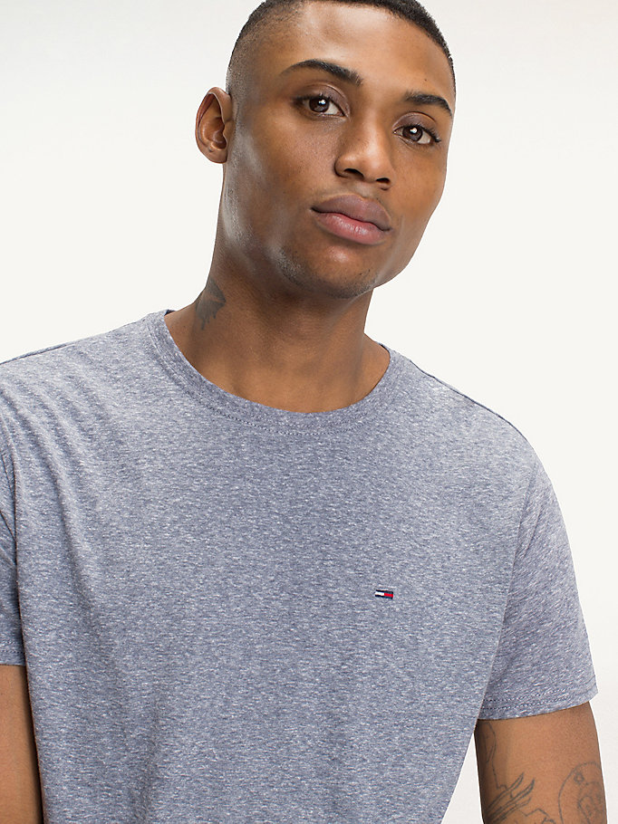 TOMMY JEANS Regular Fit Round Neck T-Shirt - TOMMY BLACK - TOMMY JEANS Men - detail image 2
