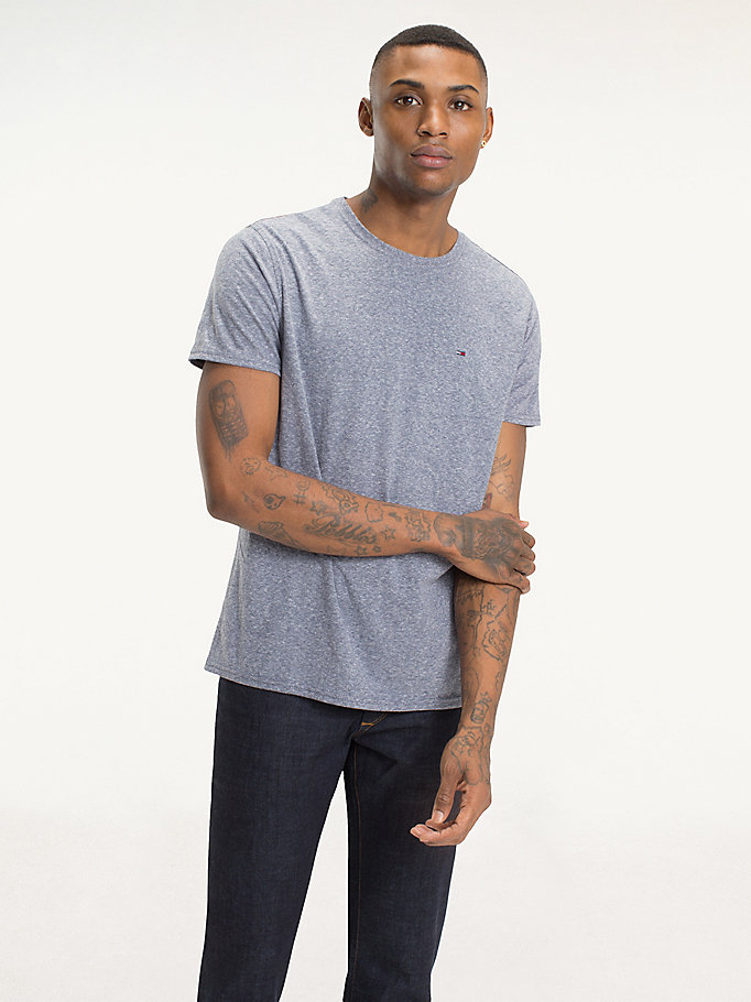 TOMMY JEANS Regular Fit Round Neck T-Shirt - TOMMY BLACK - TOMMY JEANS Men - main image