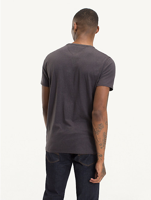 TOMMY JEANS Regular Fit Round Neck T-Shirt - TOMMY BLACK - TOMMY JEANS T-Shirts & Polos - detail image 1