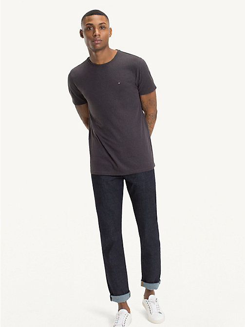 TOMMY JEANS Regular Fit Round Neck T-Shirt - TOMMY BLACK - TOMMY JEANS T-Shirts & Polos - main image