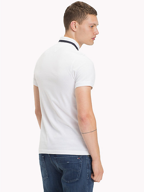 TOMMY JEANS Stand Up Collar Polo - CLASSIC WHITE - TOMMY JEANS T-Shirts & Polos - detail image 1