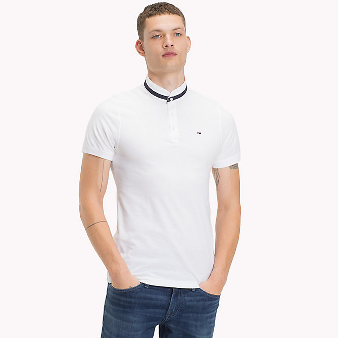 TOMMY JEANS Stand Up Collar Polo - BLACK IRIS - TOMMY JEANS Men - main image