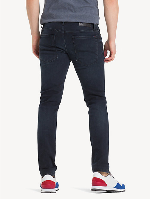 TOMMY JEANS Dark Wash Skinny Fit Jeans - COBBLE BLACK COMFORT - TOMMY JEANS Clothing - detail image 1
