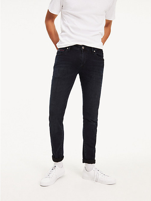 TOMMY JEANS Dark Wash Skinny Fit Jeans - COBBLE BLACK COMFORT - TOMMY JEANS Clothing - main image