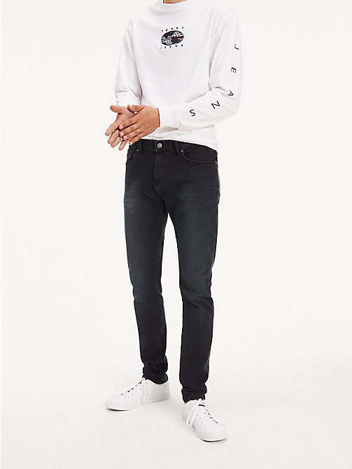 TOMMY JEANS Slim Fit Tapered Jeans - COBBLE BLACK COMFORT - TOMMY JEANS Tapered Jeans - main image