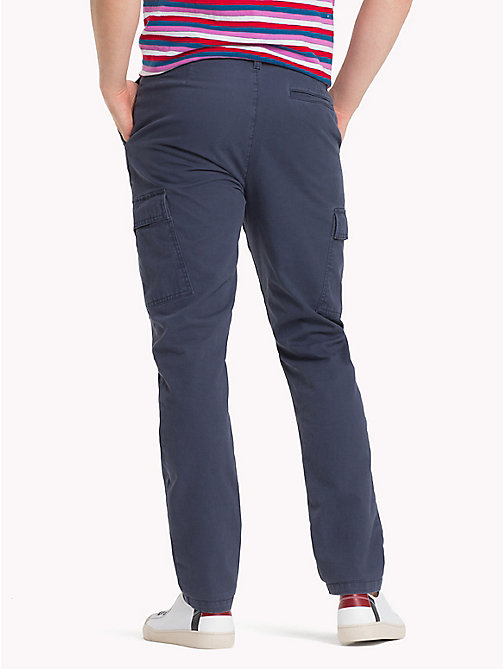 TOMMY JEANS Pure Cotton Cargo Trousers - BLACK IRIS - TOMMY JEANS Clothing - detail image 1