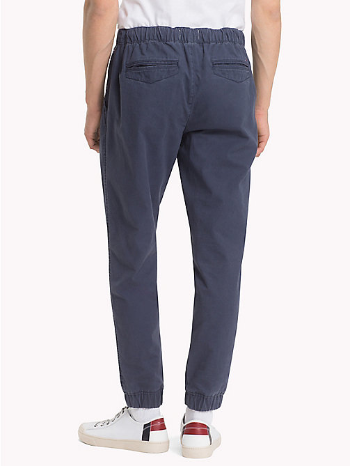 TOMMY JEANS Pure Cotton Cuffed Trousers - BLACK IRIS - TOMMY JEANS Trousers & Shorts - detail image 1