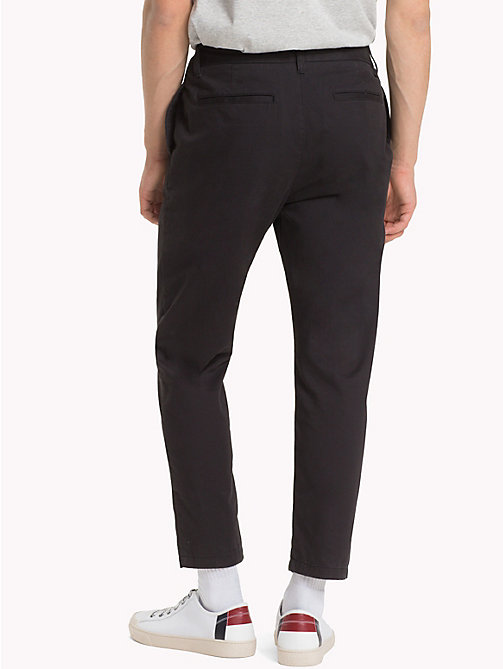 TOMMY JEANS Pure Cotton Cropped Chinos - TOMMY BLACK - TOMMY JEANS Trousers & Shorts - detail image 1