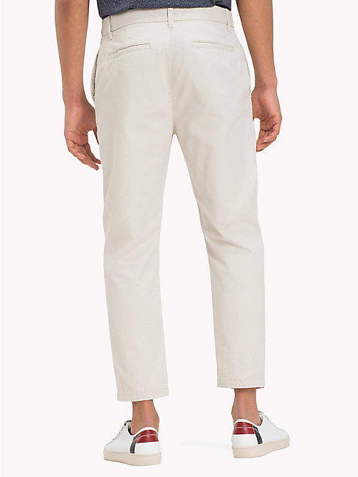 TOMMY JEANS Pure Cotton Cropped Chinos - PUMICE STONE - TOMMY JEANS Trousers & Shorts - detail image 1