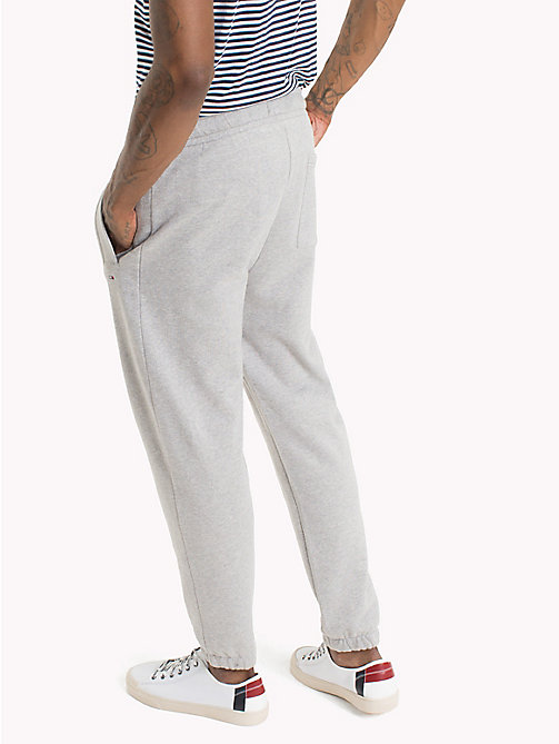 TOMMY JEANS Essential Stretch Cotton Sweatpants - LT GREY HTR - TOMMY JEANS Trousers & Shorts - detail image 1