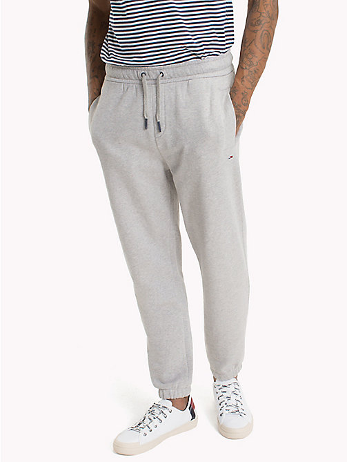 TOMMY JEANS Essential Stretch Cotton Sweatpants - LT GREY HTR - TOMMY JEANS Trousers & Shorts - main image
