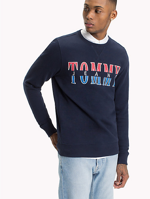 TOMMY JEANS Tommy Jeans sweatshirt met ronde hals - BLACK IRIS HTR - TOMMY JEANS Sweatshirts & Hoodies - main image