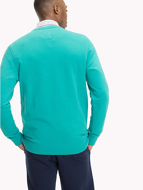 TOMMY JEANS Crew Neck Sweatshirt - GREEN BLUE SLATE HTR - TOMMY JEANS Sweatshirts & Hoodies - detail image 1