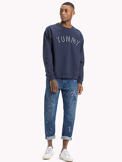 TOMMY JEANS Crew Neck Sweatshirt - BLACK IRIS - TOMMY JEANS Sweatshirts & Hoodies - main image