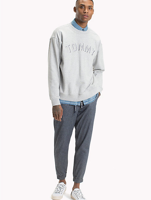 TOMMY JEANS Crew Neck Sweatshirt - LT GREY HTR - TOMMY JEANS Sweatshirts & Hoodies - main image