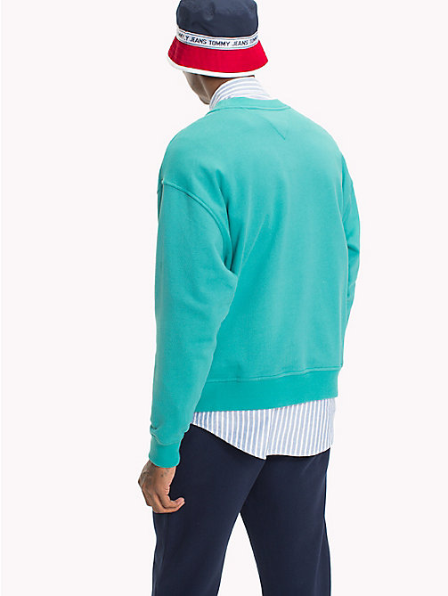 TOMMY JEANS Crew Neck Sweatshirt - GREEN BLUE SLATE - TOMMY JEANS Sweatshirts & Hoodies - detail image 1
