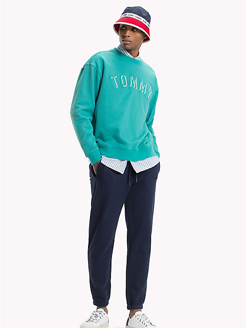 TOMMY JEANS Crew Neck Sweatshirt - GREEN BLUE SLATE - TOMMY JEANS Sweatshirts & Hoodies - main image