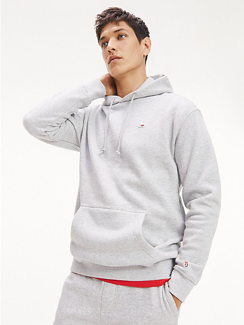 TOMMY JEANS Tommy Classics Monogram Hoodie - LT GREY HTR - TOMMY JEANS Tommy Classics - main image