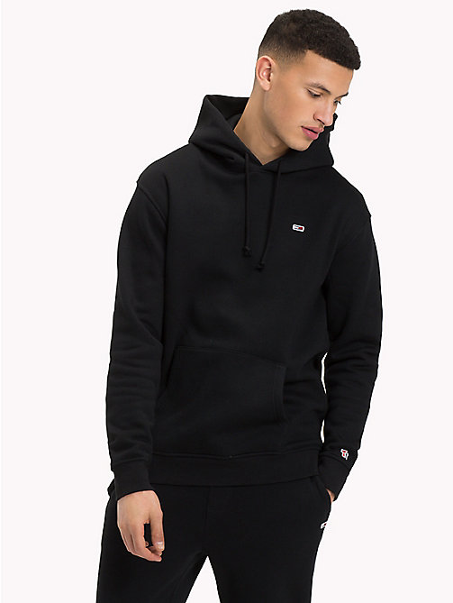 TOMMY JEANS Tommy Classics Monogram Hoodie - TOMMY BLACK - TOMMY JEANS Tommy Classics - detail image 1