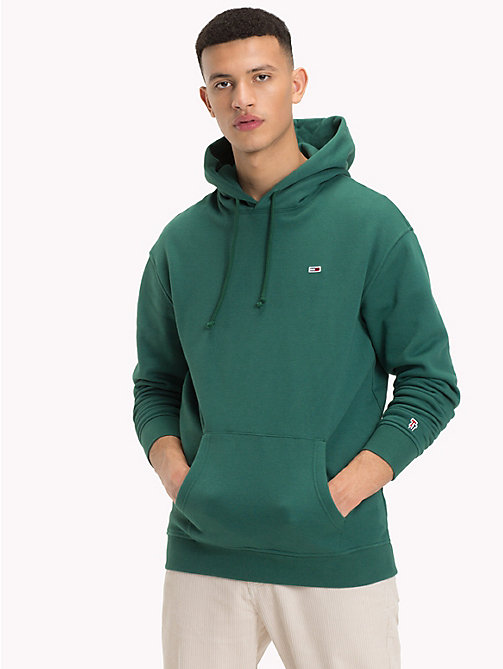 TOMMY JEANS Tommy Classics Monogram Hoodie - HUNTER GREEN - TOMMY JEANS Sweatshirts & Hoodies - main image