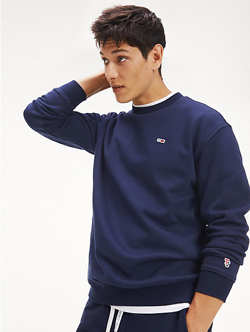 TOMMY JEANS Tommy Classics Crew Neck Sweatshirt - BLACK IRIS - TOMMY JEANS Test 8 - Men - main image