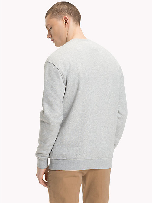 TOMMY JEANS Tommy Classics Crew Neck Sweatshirt - LT GREY HTR - TOMMY JEANS Test 8 - Men - detail image 1