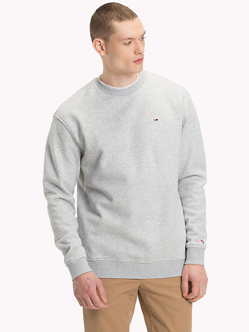 TOMMY JEANS Tommy Classics Crew Neck Sweatshirt - LT GREY HTR - TOMMY JEANS Test 8 - Men - main image