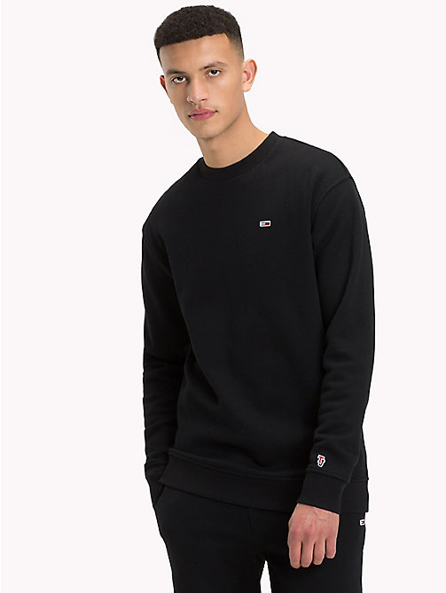 TOMMY JEANS Tommy Classics Crew Neck Sweatshirt - TOMMY BLACK - TOMMY JEANS Tommy Classics - detail image 1