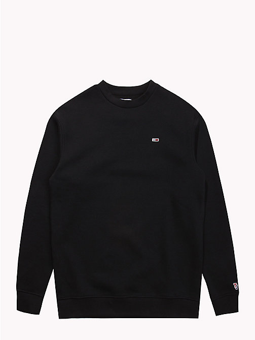TOMMY JEANS Tommy Classics Crew Neck Sweatshirt - TOMMY BLACK - TOMMY JEANS Sweatshirts & Knitwear - detail image 1